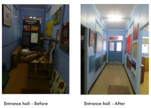 Entrance Hall Before and after spread j