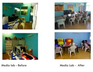 Media Lab before and after j