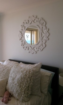 Peaceful Mirror in bedroom