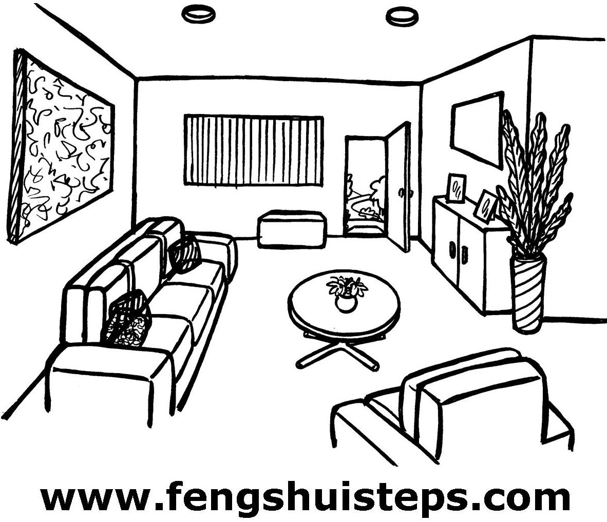 Feng Shui Lounge Room Fig 1 Ideal Layout
