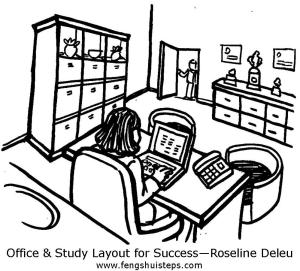 Office Study layout for success by Roseline Deleu