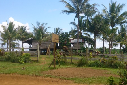 PNG village playground and houses