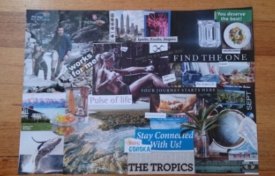 Feng Shui intuitive collage