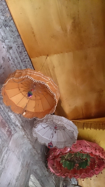 ceiling covered with fabric